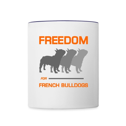 French Bulldogs - Contrast Coffee Mug
