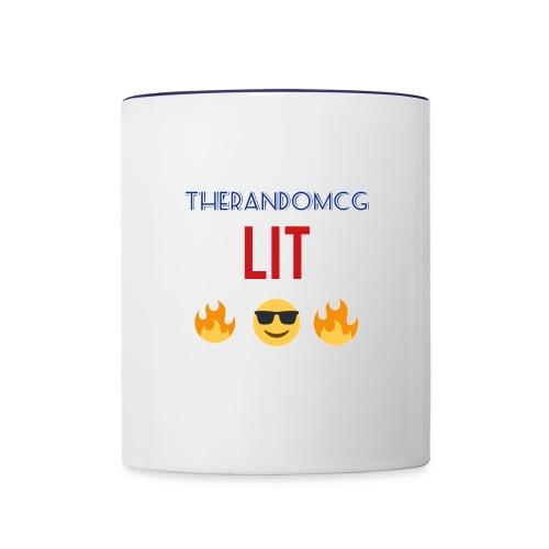 TheRandomCG Is Lit - Contrast Coffee Mug