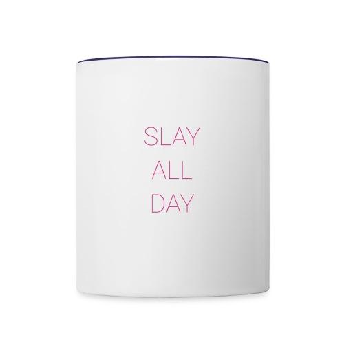 Slay All Day - Contrast Coffee Mug