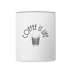 Coffee is life - Contrast Coffee Mug
