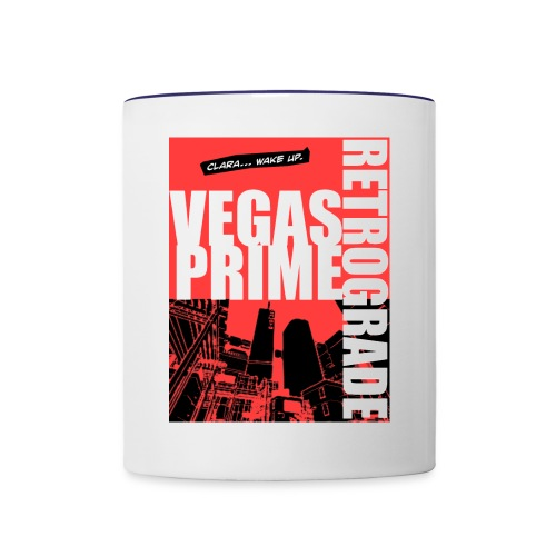 Vegas Prime Retrograde - Clara Wake Up - Red - Contrast Coffee Mug