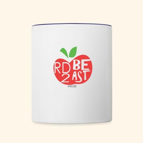 RD2BEAST apple - Contrast Coffee Mug