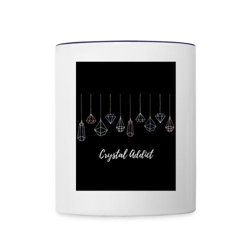 Crystal addict logo - Contrast Coffee Mug