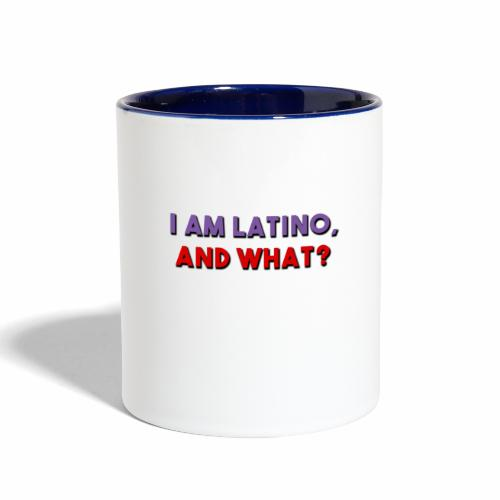I am latino, I love being Latino - Contrast Coffee Mug