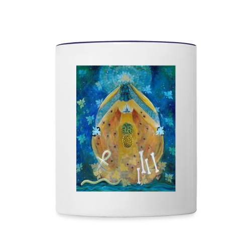 Cosmic Shakti Design by Arathi Ma - Contrast Coffee Mug