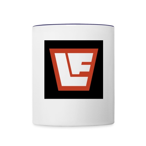La Fortuna logo against black - Contrast Coffee Mug