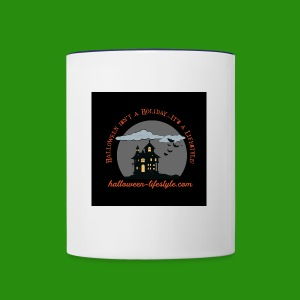 Halloween Lifestyle Haunted House Logo - Contrast Coffee Mug