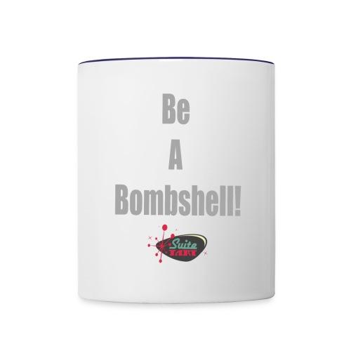 Be A Bombshell Grey Horizontal - Contrast Coffee Mug