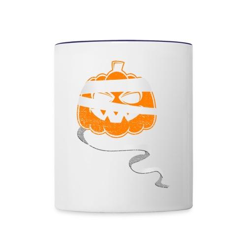 Halloween Bandaged Pumpkin - Contrast Coffee Mug