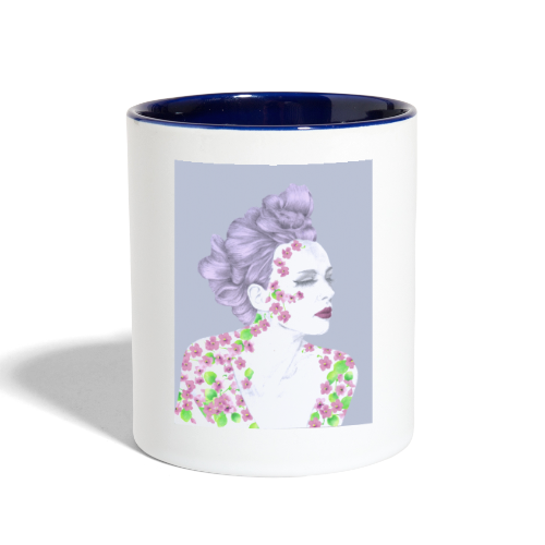 The Girl With The Flower Tattoo - Contrast Coffee Mug