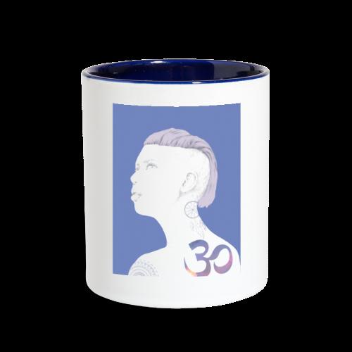 The Girl With The Om Tattoo - Contrast Coffee Mug