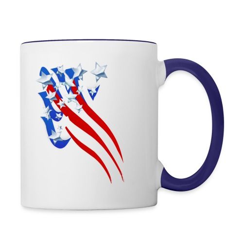 Sweeping Old Glory - Contrast Coffee Mug