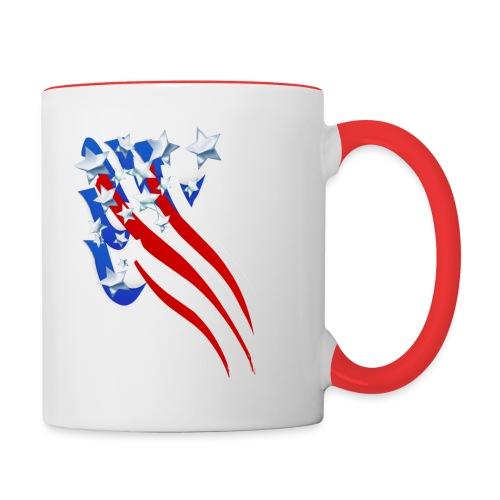 Sweeping Old Glory - Contrast Coffee Mug