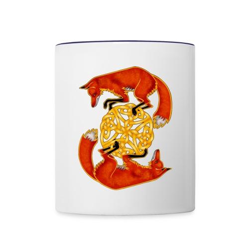 Circling Foxes - Contrast Coffee Mug
