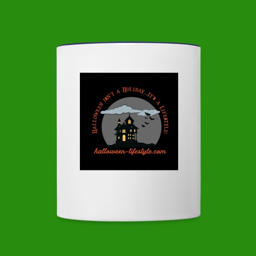 Halloween Lifestyle Haunted House Logo - Contrast Coffee Mug