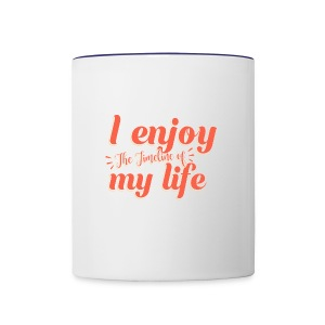 Timeline of life - Contrast Coffee Mug
