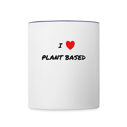 I LOVE PLANT BASED - Contrast Coffee Mug