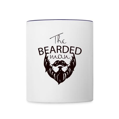 The bearded man - Contrast Coffee Mug
