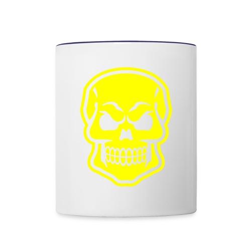 Skull vector yellow - Contrast Coffee Mug
