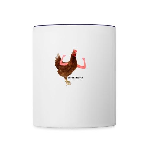 ChickenLover Box Logo T-shirt - Contrast Coffee Mug