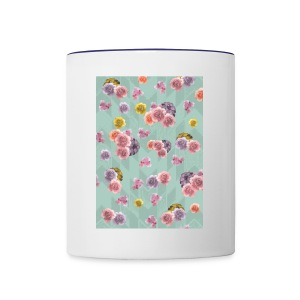 Floral Graphic Pattern1 - Contrast Coffee Mug