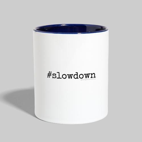 #slowdown mug - Contrast Coffee Mug