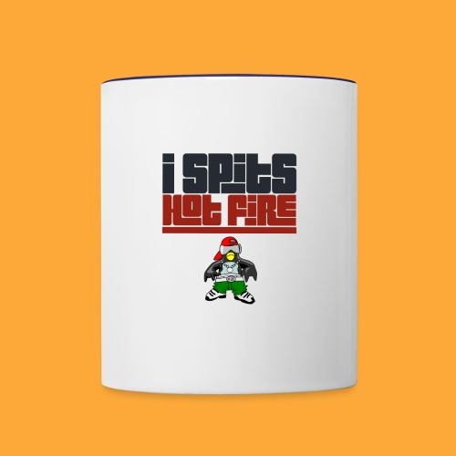 I Spits Hot Fire - Contrast Coffee Mug