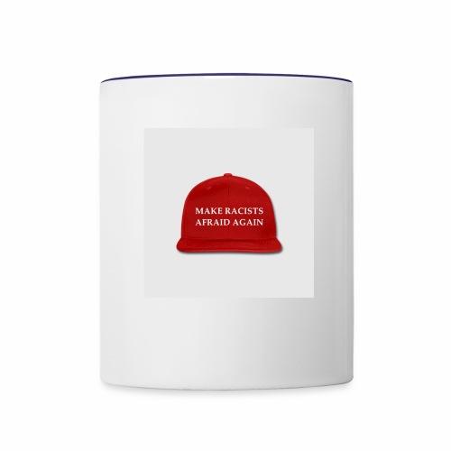 make racists afraid again snap back baseball cap - Contrast Coffee Mug