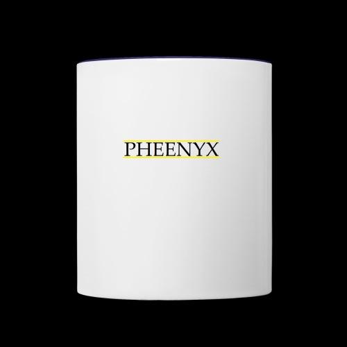 Pheenyx logo black - Contrast Coffee Mug
