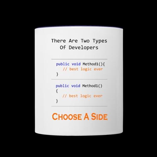 Code Styling Preference Shirt - Contrast Coffee Mug