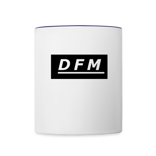 D.F.M Logo Merch - Contrast Coffee Mug