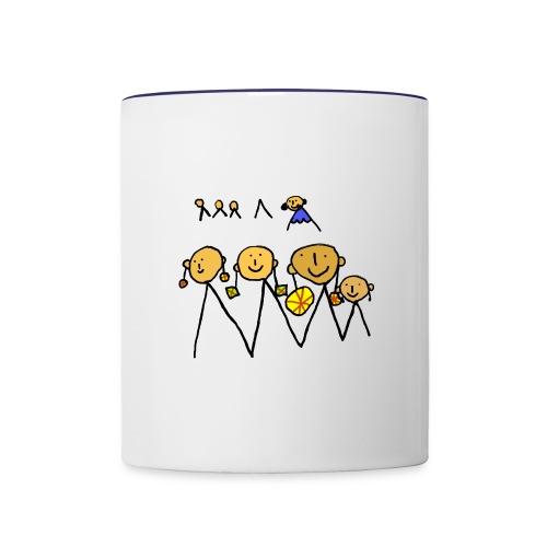 Girls with earrings - Contrast Coffee Mug