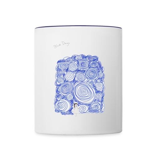 Blue Days - Contrast Coffee Mug
