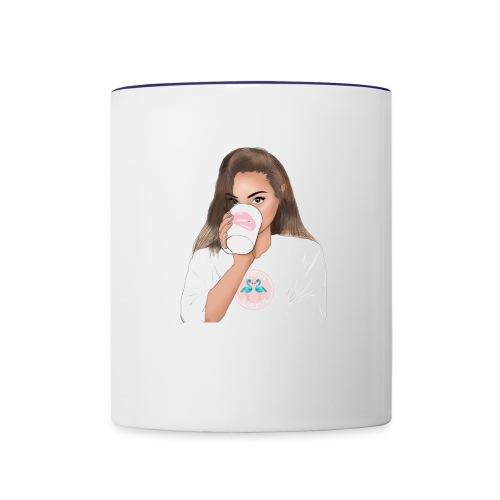 Coffee Talks With Brittney Mug - Contrast Coffee Mug