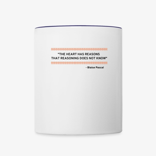 Blaise Pascal - Quote - Contrast Coffee Mug
