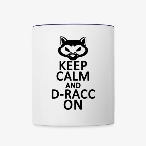 Keep Calm - D-Racc on! - Contrast Coffee Mug