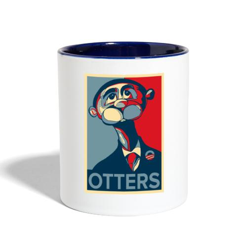 OTTERS (Hope Poster) - Contrast Coffee Mug