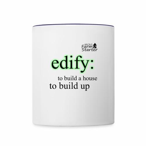 edify Micro Farm Starter - Contrast Coffee Mug