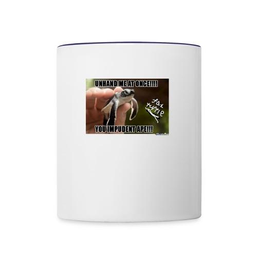 fat turtle merch - Contrast Coffee Mug