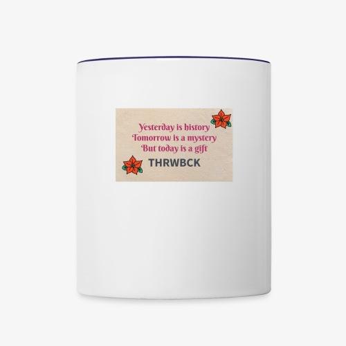 THRWBCK quote - Contrast Coffee Mug