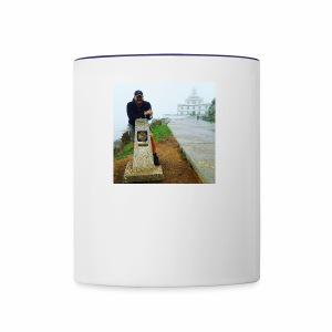 Camino 0.00 KM Backpacker Mike - Contrast Coffee Mug