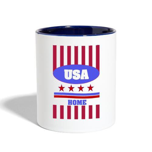 US Flag case - Contrast Coffee Mug
