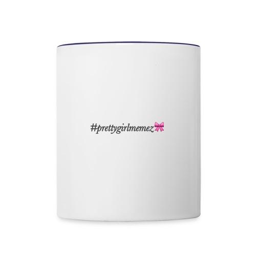 #prettygirlmemez mug - Contrast Coffee Mug