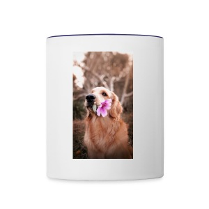 Golden with flower - Contrast Coffee Mug