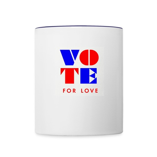 vote4love-sample - Contrast Coffee Mug