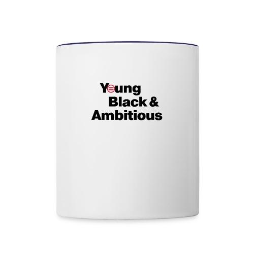 YBA white and gray shirt - Contrast Coffee Mug
