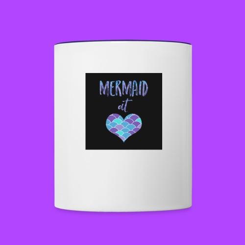 mermaid at heart - Contrast Coffee Mug