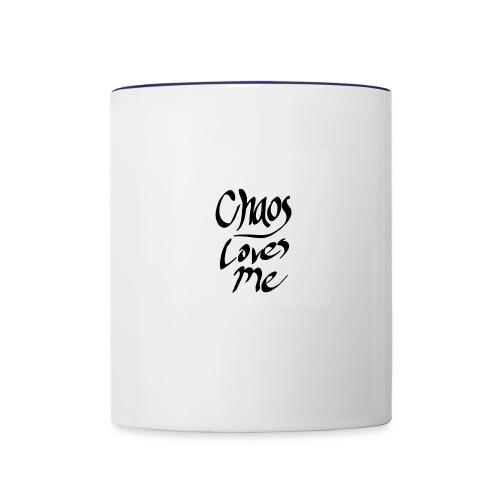 Chaos Loves Me - Contrast Coffee Mug