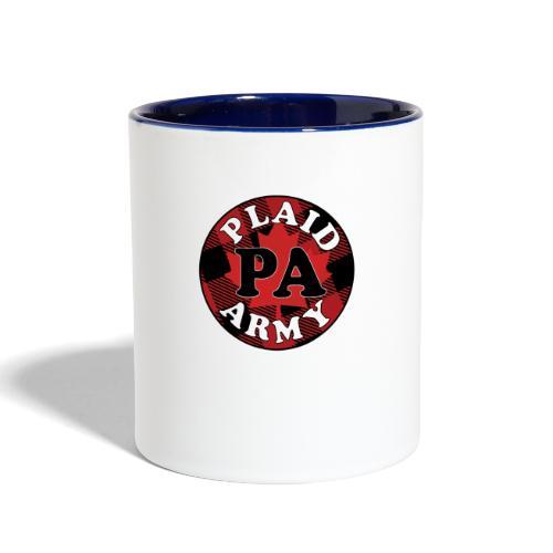 plaid army round - Contrast Coffee Mug
