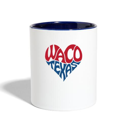 Heart of Waco Texas - Contrast Coffee Mug